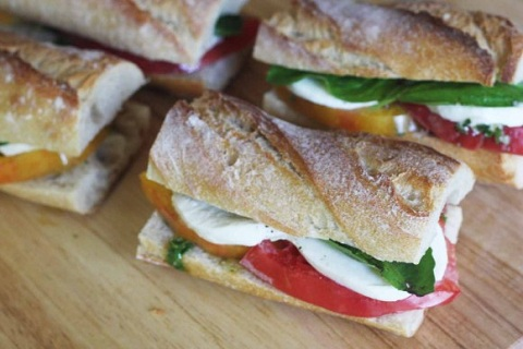 Caprese Sandwich with Basil Chimichurri Sauce from Catch My Party