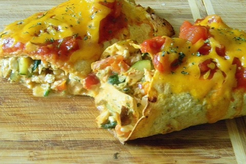 Quick and Healthy Cheesey Tuna Enchilada