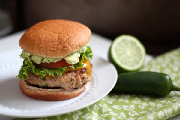 Jalapeno Turkey Burgers with Cheddar & Guacamole from Alaska from Scratch