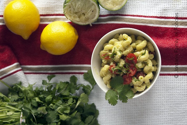 Guacamole Pasta from Jordan's Family of Foodies