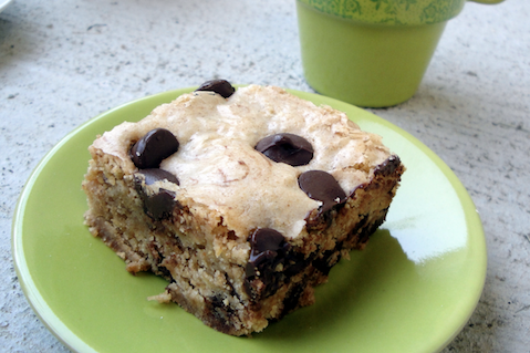 White Chocolate Peanut Butter Chocolate Chip Brownies