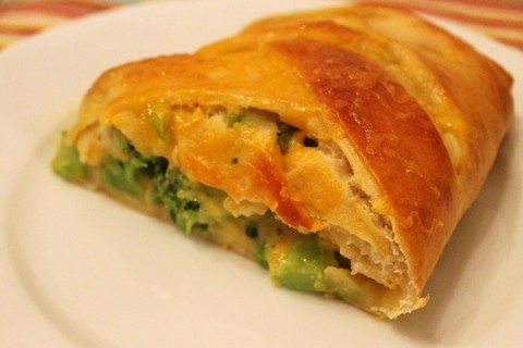 Broccoli and Cheese Braided Calzone