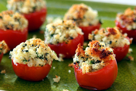Bread and Herb Butter Stuffed Cherry Tomatoes