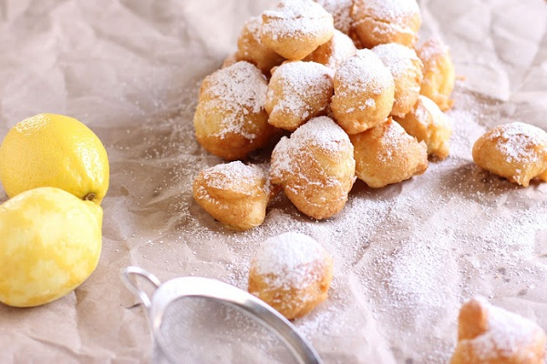 Lemon Beignets from Vintage Mixer
