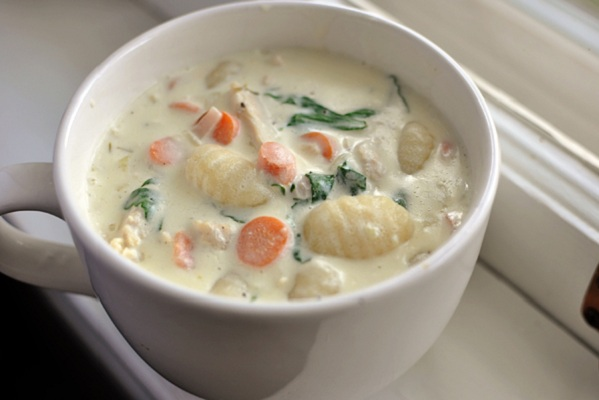 Hearty Chicken Gnocchi Soup from Mel's Kitchen Cafe
