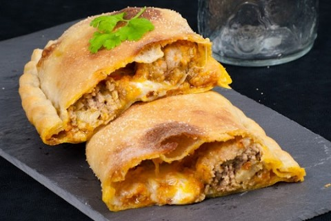 Meatballs in White Wine Sauce Calzone