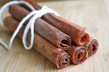 strawberry basil fruit leather