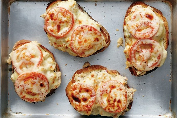 Kicked Up Tuna Melts from Martha Stewart