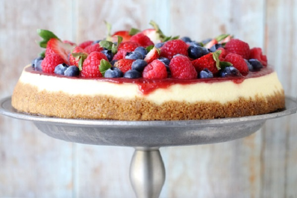 White Chocolate Cheesecake with Mixed Berries from Baker's Royale