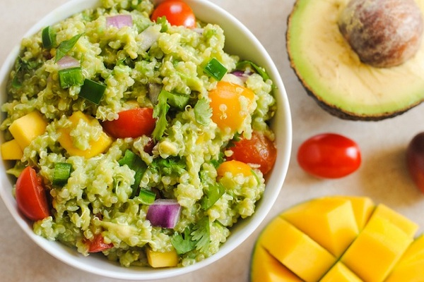 Guacamole Quinoa with Mango from Foxes Love Lemons