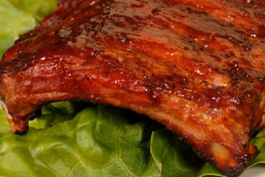 Oven Baby Back Ribs with Hoisin BBQ Sauce from Once Upon a Chef