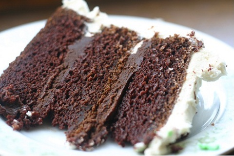 Guinness Chocolate Cake with Ganache Filling
