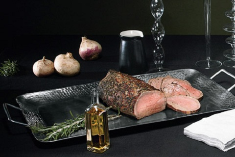 Roast Beef with Dijon-Caper Sauce
