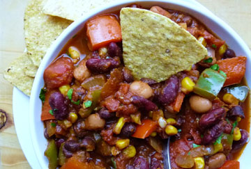Vegan Three Bean Chili (from Eating for England)