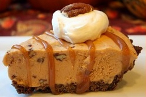 Sweet Potato Praline Ice Cream Pie