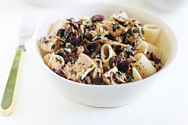 Pasta with Tuna and Black Olive Vinaigrette from My Recipes Photo by John Kernick