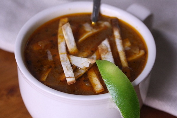 Vegetarian Tortilla Soup from Big Girls Small Kitchen