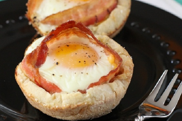 Bacon and Cheese Egg McMuffin Cups from Picky Palate