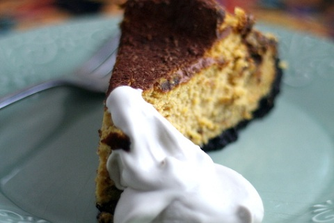 Pumpkin Cheesecake with Maple Whipped Cream
