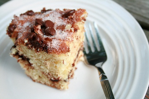 Chocolate Chip and Sour Cream Coffee Cake