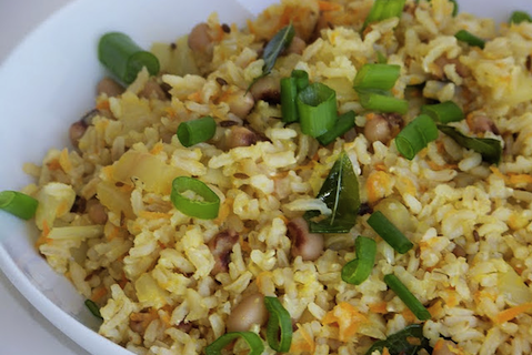 Brown Rice and Black Eyed Pea Pilaf