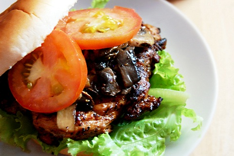 Smoked Paprika Chicken with Mushrooms Burger
