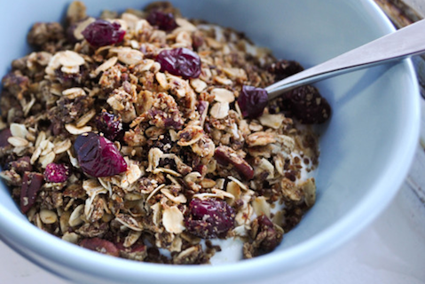 Flax Seed, Cranberry, and Walnut Granola