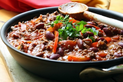 Chocolate, Turkey, and Bean Chili