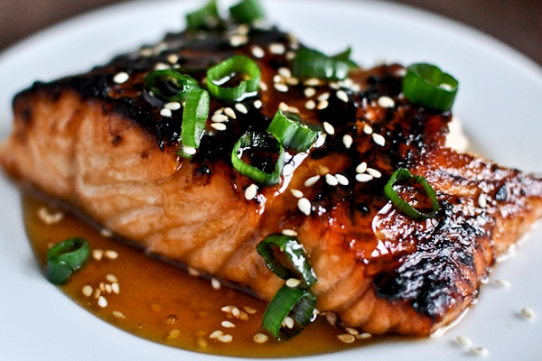 Toasted Sesame Ginger Salmon from How Sweet It Is