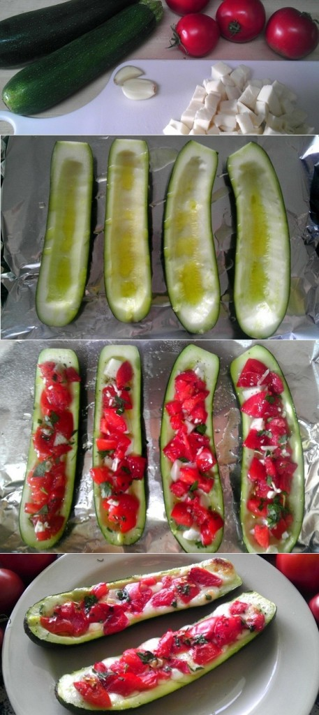 Step-by-Step Visual for Zucchini Boats