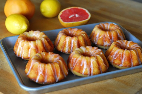 Lemon Yogurt Cake with Grapefruit Icing