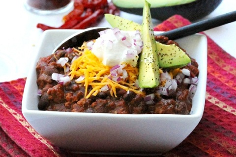 Ground Turkey and Black Bean Chili