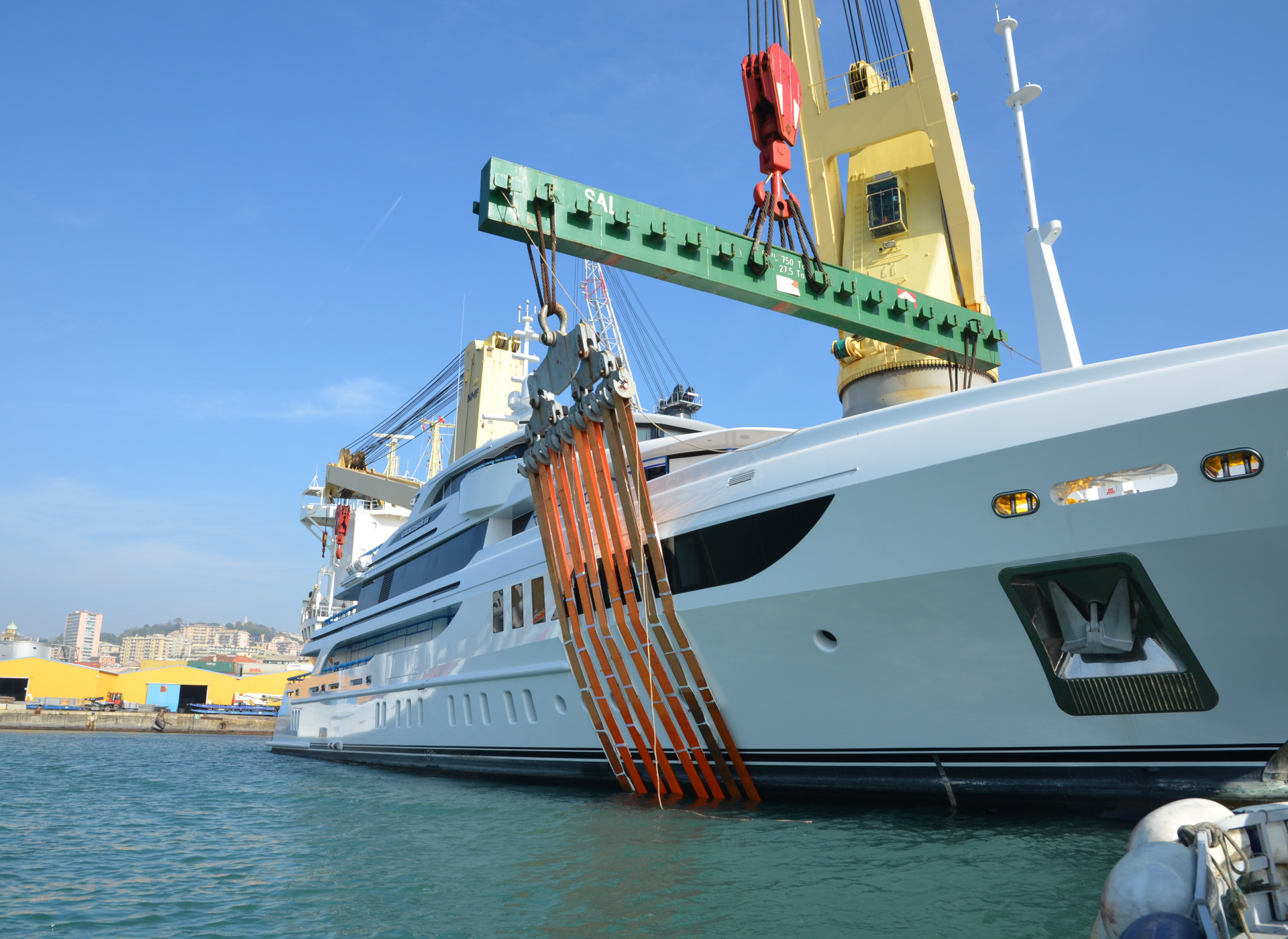 Superyacht transport background image