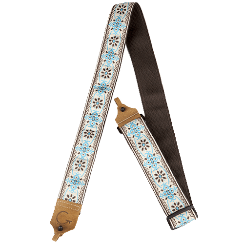 G BRAND BANJO STRAP BLUE/BROWN
