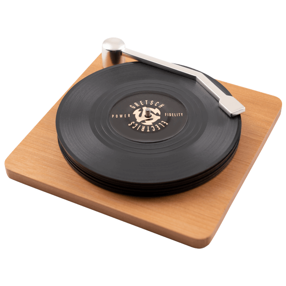 GRETSCH P&F VINYL COASTER SET