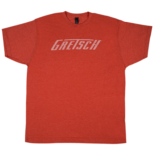 GRETSCH LOGO TEE HEATHER ORANGE