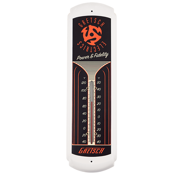 GRETSCH TIN THERMOMETER
