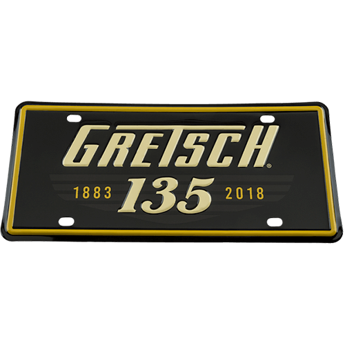 GRETSCH 135TH ANNIVERSARY LICENSE PLATE