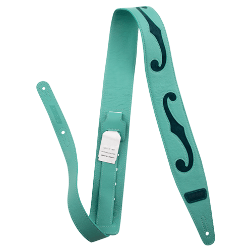 Gretsch Seafoam Green Leather F Hole Strap