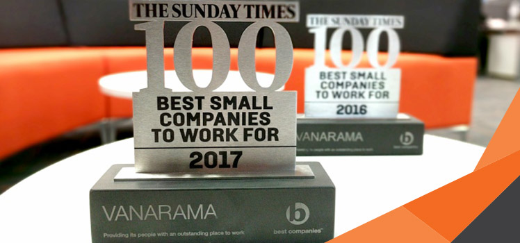 Happy workforce delivers happy customers. Vanarama celebrate our placing in The Times Top 100 Best Companies to Work For