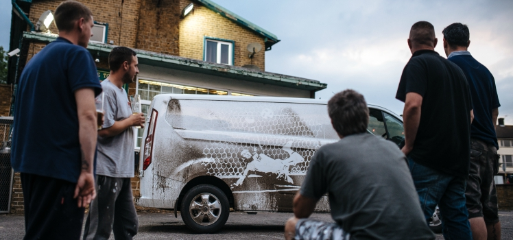 Vanarama celebrates England's 2018 Word Cup campaign with van dust art