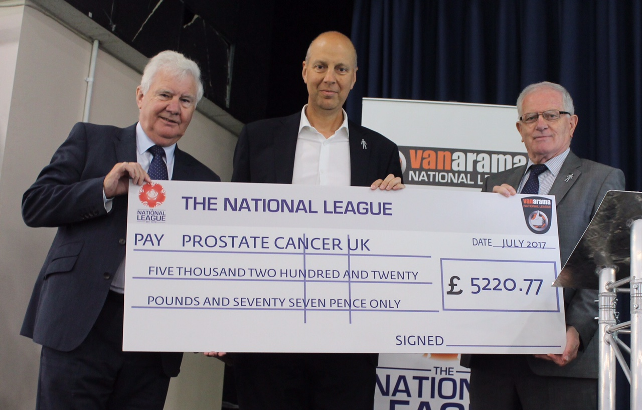 Vanarama National League continue driving donations for Prostate Cancer UK