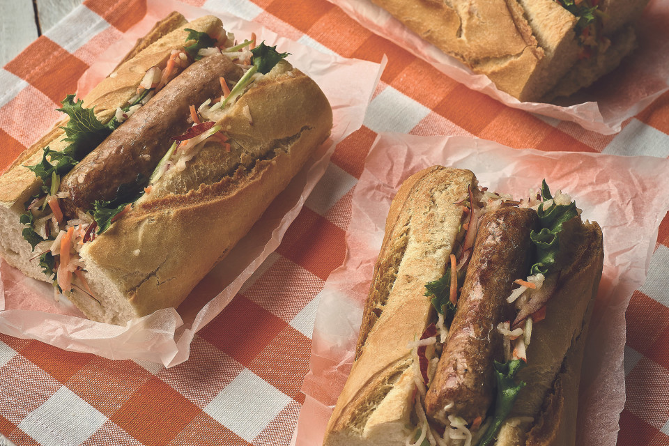 Sausage & Apple Slaw Baguette