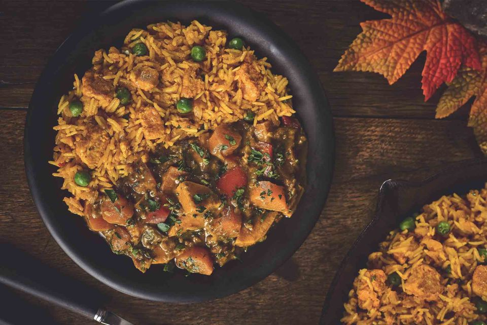 Biryani with Root Vegetable Curry