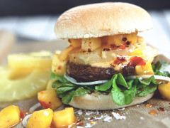 Hawaiian Mango Quorn Vegan Burger