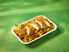 Piri Piri Fillets with Portuguese Rice and Slaw