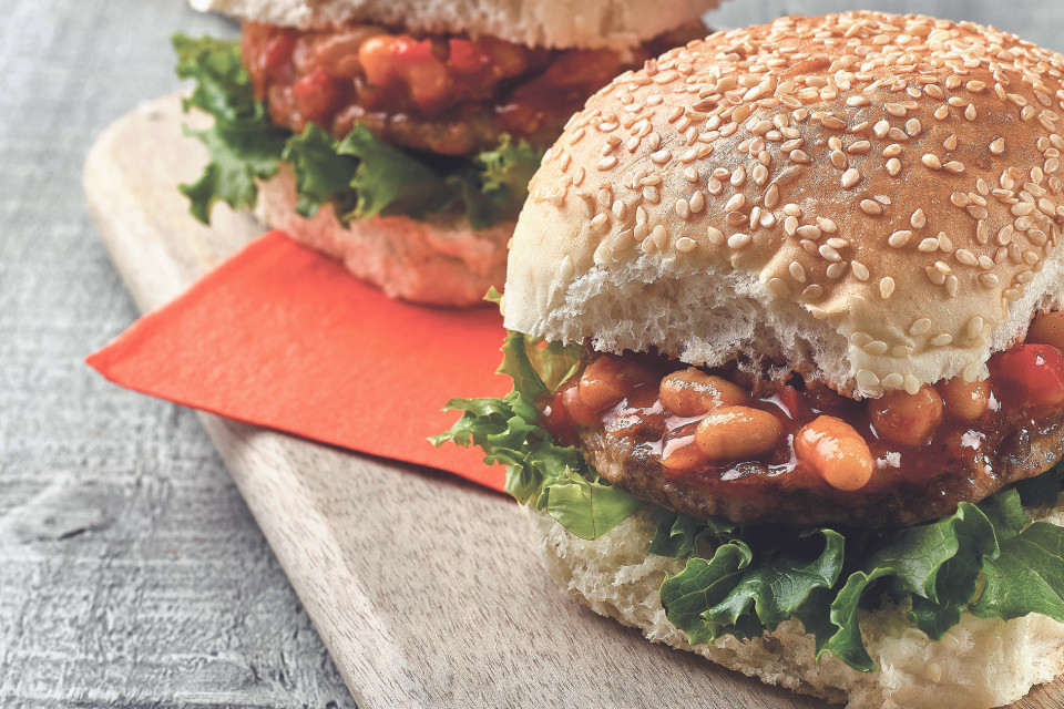 BBQ Burger with Boston Beans