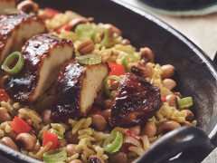 Jerk Fillets with Rice & Peas
