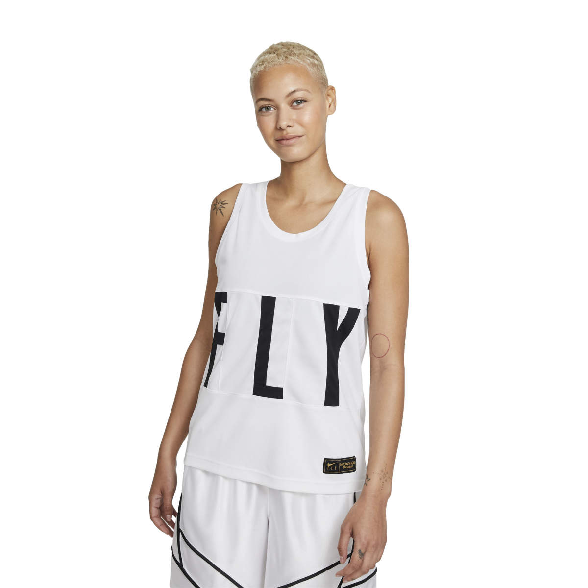 Wmns swoosh fly jersey white