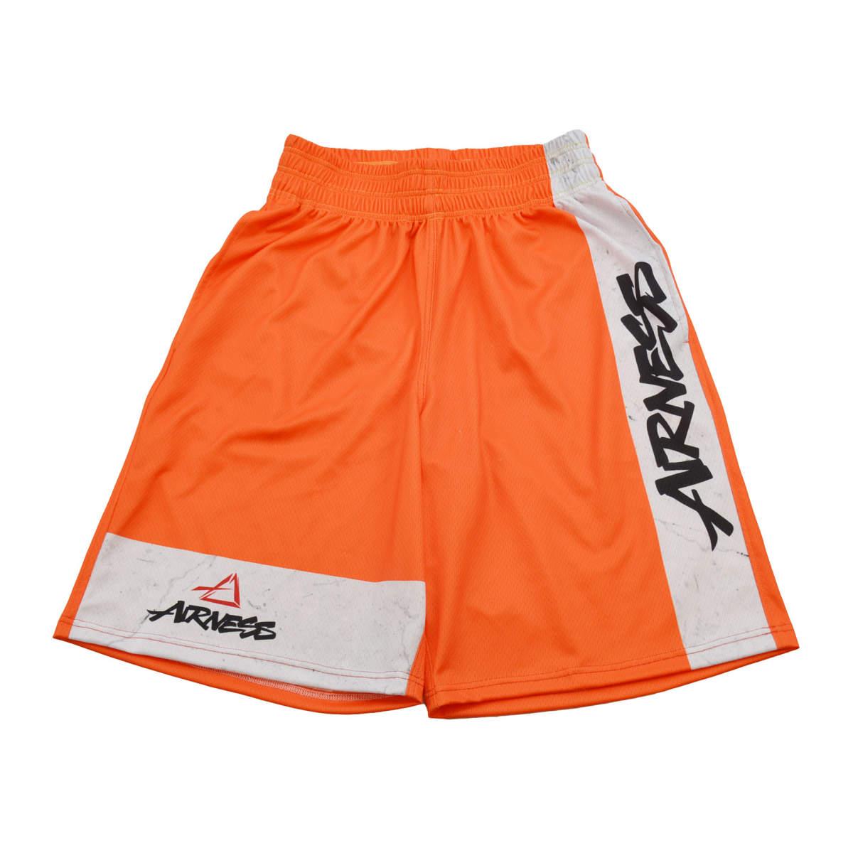 Airness color block short orange